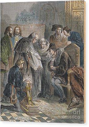 William Tyndale (1492?-1536) Wood Print by Granger