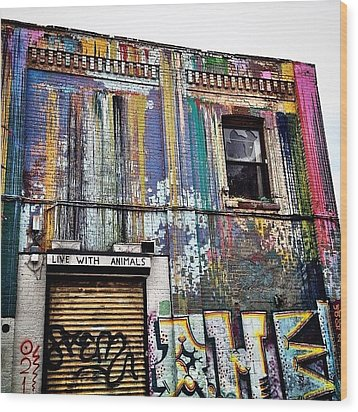 Williamsburg Graffiti Wood Print by Natasha Marco