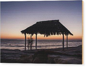 Windansea Beach Hut One Wood Print by Josh Whalen