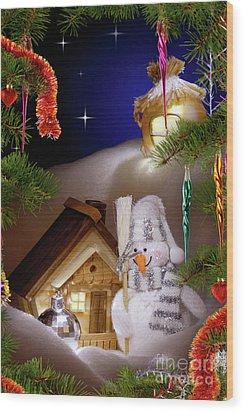 Wonderful Christmas Still Life Wood Print by Oleksiy Maksymenko