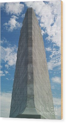 Wood Print featuring the sculpture Wright Brothers Memorial by Tony Cooper