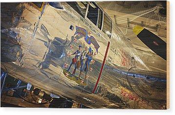 Ww II Fighter Plane Wood Print