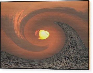 Zeus Vs. Poseidon Battle For The Sun. Wood Print