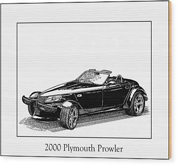 2000 Plymouth Prowler Wood Print by Jack Pumphrey