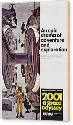 2001 A Space Odyssey, 1968 Wood Print by Everett