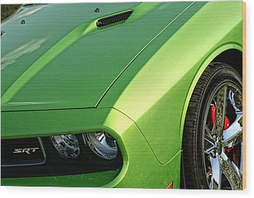 2011 Dodge Challenger Srt8 - Green With Envy Wood Print by Gordon Dean II