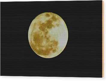 Wood Print featuring the photograph 2011 Full Moon by Maria Urso
