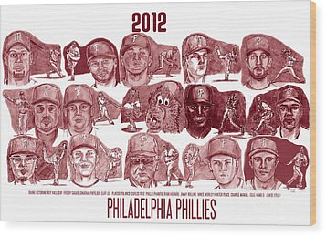2012 Philadelphia Phillies Wood Print by Chris  DelVecchio