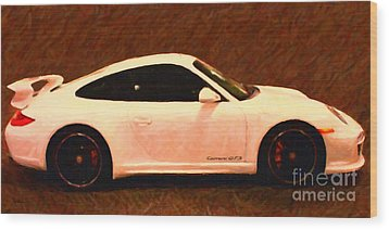 2012 Porsche 911 Carrera Gts Wood Print by Wingsdomain Art and Photography
