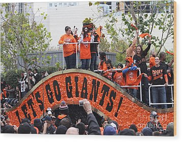 2012 San Francisco Giants World Series Champions Parade - Dpp0004 Wood Print by Wingsdomain Art and Photography