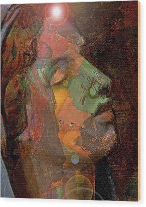 21st Century Madona Wood Print by William Sosa