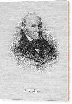 John Quincy Adams Wood Print by Granger
