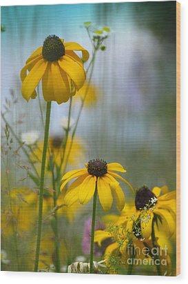 Wildflowers Wood Print by France Laliberte
