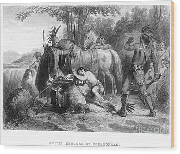 Pocahontas (1595?-1617) Wood Print by Granger