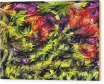 Wood Print featuring the digital art 2312 by Leo Symon