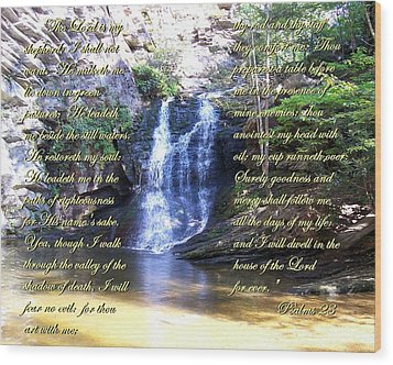 Wood Print featuring the photograph 23rd Psalm by Chad and Stacey Hall