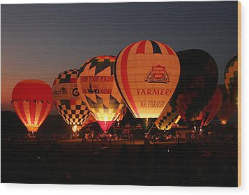 Balloons Wood Print by Rick Rauzi