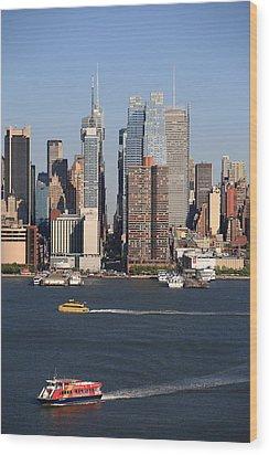 New York City Skyline Wood Print by Frank Romeo