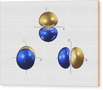 2p Electron Orbitals Wood Print by Dr Mark J. Winter