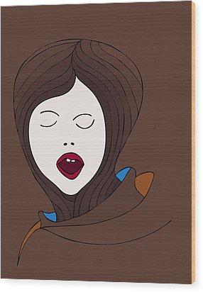 A Woman Wood Print by Frank Tschakert