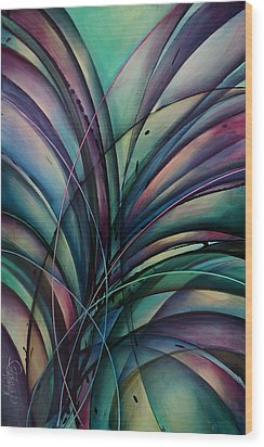 Abstract Design Wood Print by Michael Lang
