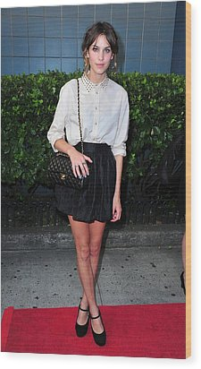 Alexa Chung Wearing A 3.1 Phillip Lim Wood Print by Everett