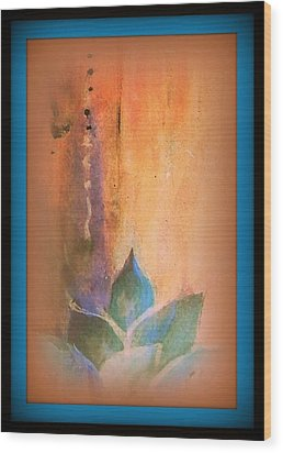 Ancient Lotus Wood Print by Wendy Wiese