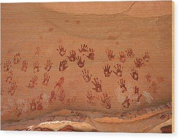 Ancient Pueblo-anasazi Rock Art Wood Print by Ira Block