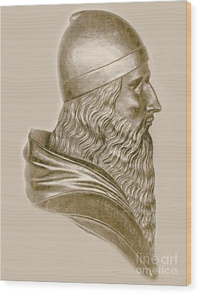 Aristotle, Ancient Greek Philosopher Wood Print by Science Source
