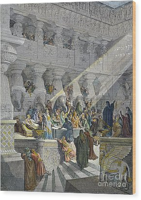 Belshazzars Feast Wood Print by Granger