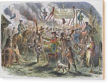 Boston: Stamp Act Riot, 1765 Wood Print by Granger