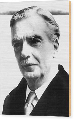 British Prime Minister Anthony Eden Wood Print by Everett