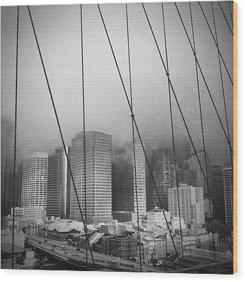 Brooklyn Bridge Wood Print by Eli Maier