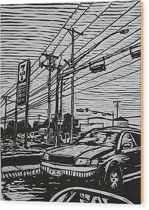 Burnet Road Wood Print by William Cauthern