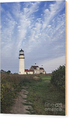 Cape Cod Light Wood Print by John Greim