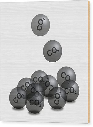 Carbon Dioxide And Climate Change Wood Print by Victor De Schwanberg