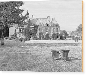 Chateau De Saint Paterne Normandy France  Wood Print by Joseph Hendrix