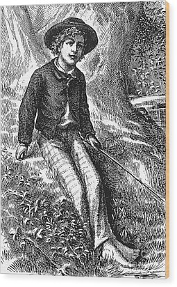 Clemens: Tom Sawyer Wood Print by Granger