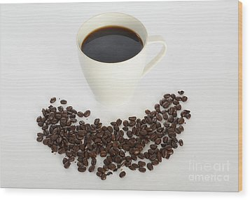 Coffee Wood Print by Photo Researchers, Inc.