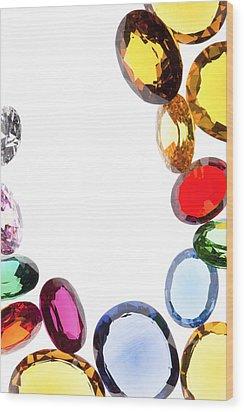 Colorful Gems Wood Print by Setsiri Silapasuwanchai