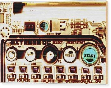 Computer Circuit Board Wood Print by Pasieka