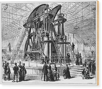 Corliss Steam Engine, 1876 Wood Print by Granger