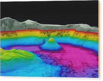 Crater Lake Wood Print by Us Geological Survey