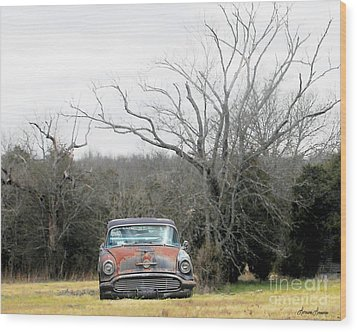 Days Gone By Wood Print by Lorraine Louwerse