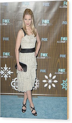 Dianna Agron At Arrivals For Fox Wood Print by Everett