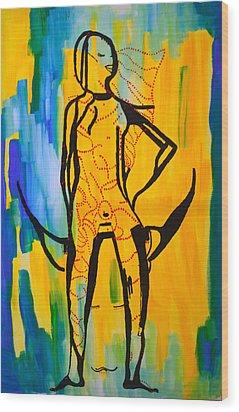 Dinka Bride - South Sudan Wood Print by Gloria Ssali