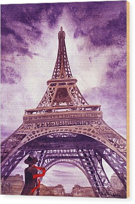 Eiffel Tower Paris Wood Print by Irina Sztukowski