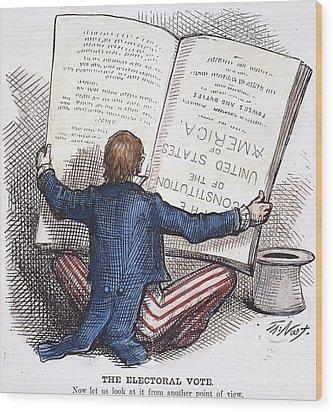 Election Cartoon, 1876 Wood Print by Granger