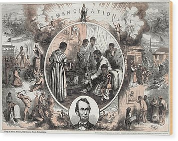 Emancipation Proclamation Wood Print by Granger