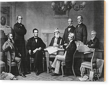 Emancipation Proclamation Wood Print by Photo Researchers
